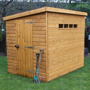 7' x 5' (2.14x1.52m) Traditional Pent Security Shed