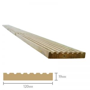 Forest Treated Softwood Deck Board 19mm x 120mm x 2.4m Pack of 20
