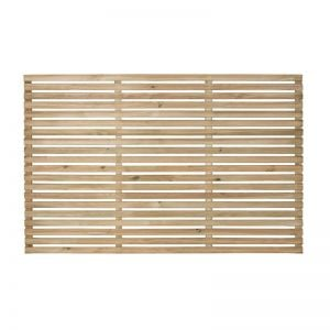 Forest 6' x 4' Pressure Treated Contemporary Slatted Fence Panel (1.8m x 1.2m)