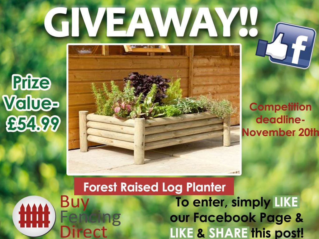 Forest Raised Log Planter Giveaway