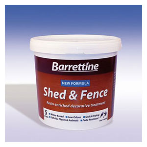 A 5-litre tub of Harvest Gold fence treatment