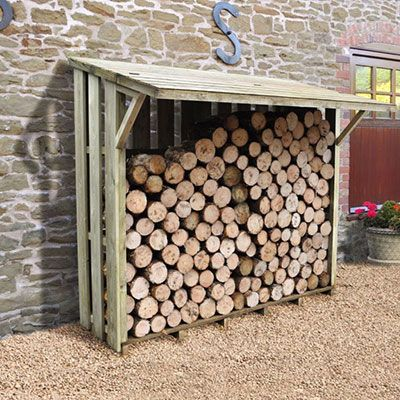 Use a Log Store to Dry and Store Firewood