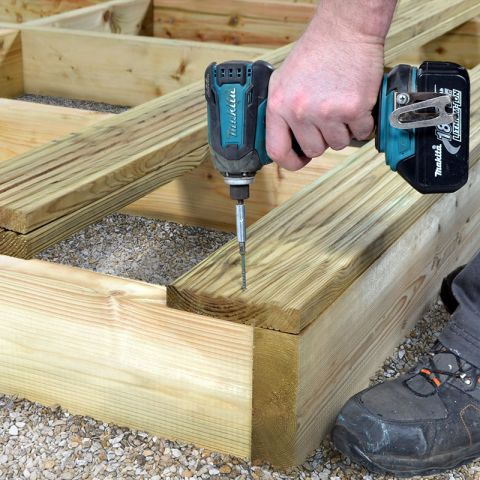 Garden Decking - How to Build a Decking Sub-Frame
