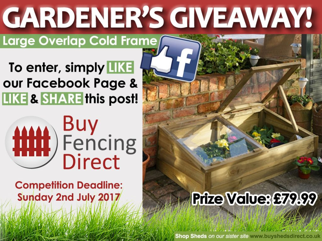 Large Overlap Cold Frame Summer Giveaway