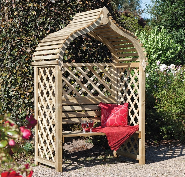 How to install a garden arbour