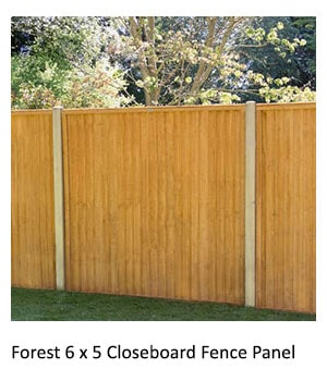 Forest 6x5 Closeboard Fence Panel