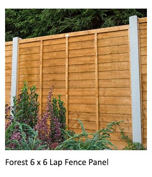 Forest 6x6 Lap Fence Panel