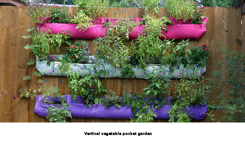 Vertical vegetable pocket garden