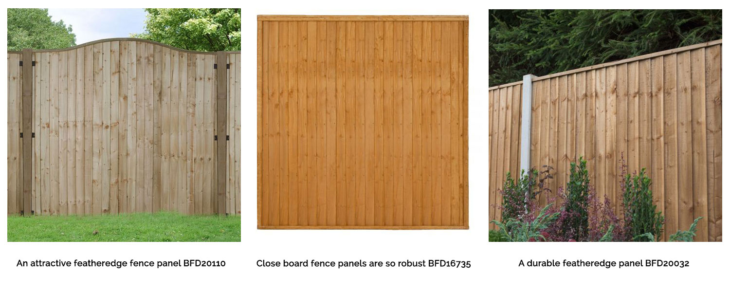 Featheredge and close board fence panels